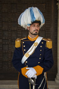 a palace guard - one of the things to see in San Marino
