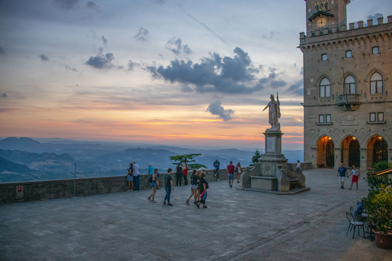 Visiting the Piazza della Libertà, one of the things to do in San Marino