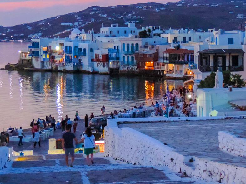 Mykonos Town at twilight