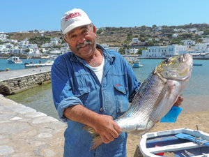 a fisherman holding a large fish