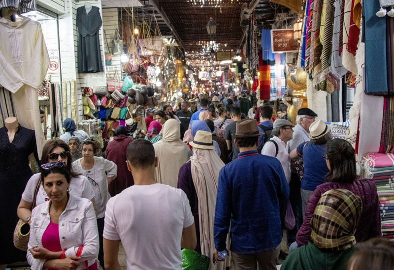 people in teh Medina, one of the things to do in Marrakesh
