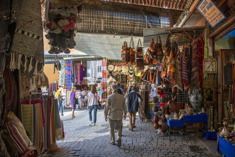 people visiting the Medina, one of the best things to do in Marrakesh