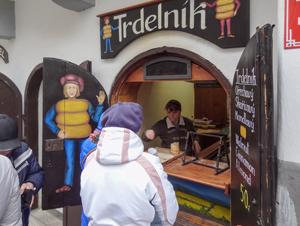 A donut shop in Cesky Krumlov