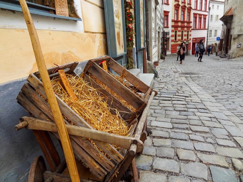 Street in Old Town seen on a trip to Street in Cesky Krumlov from Prague