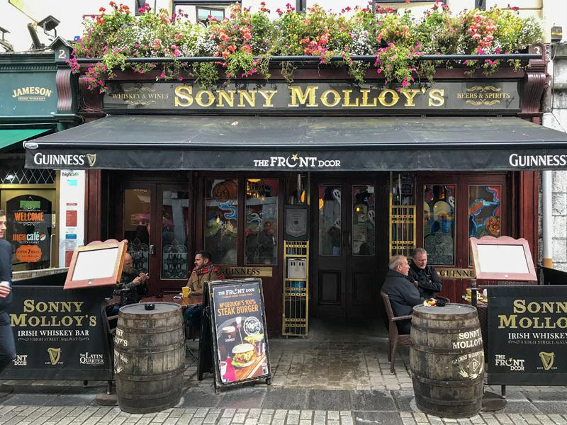 people at a pub on Ireland's west coast