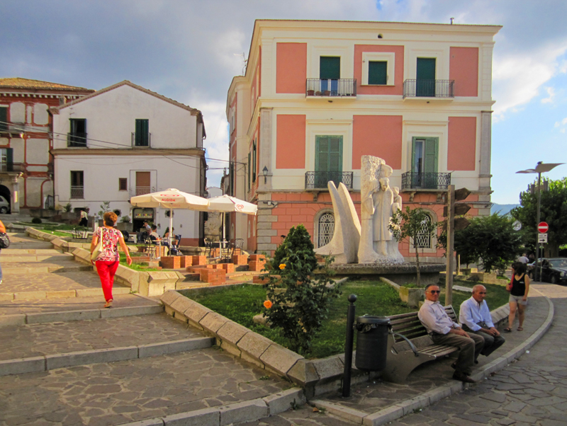 a small piazza in Accettura often visited during my search for family in Italy