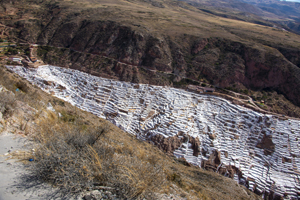 while salt pans seen in Cusco and the Sacred Valley in Peru
