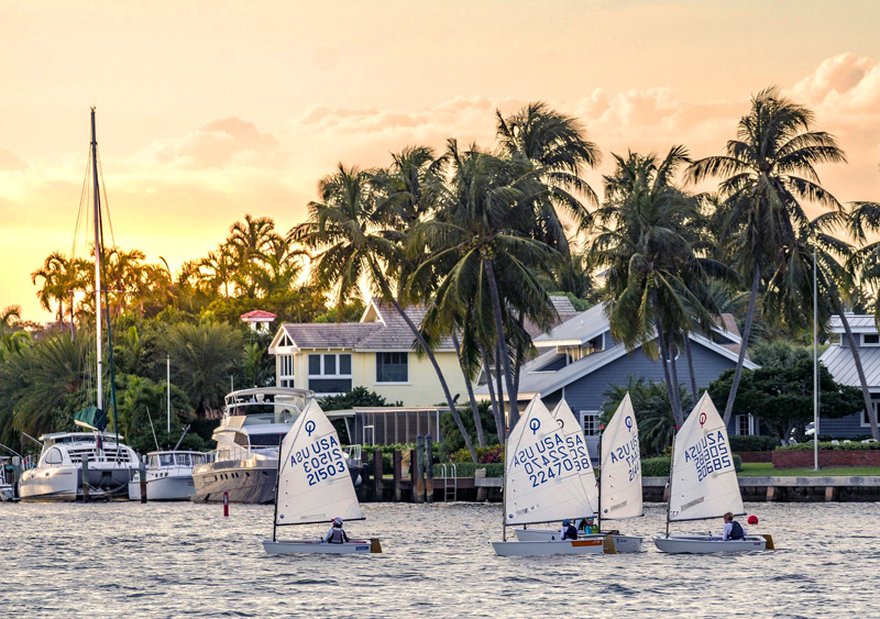 sailboats on the Intracoastal - One of the fun things to do in Fort Lauderdale