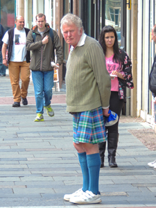 a man in a kilt met on a scotland road trip - seen on a Highlands of Scotland road trip