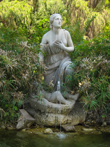 A statue in a park seen on walks in Rome