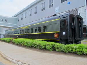 a railroad car in Halifax, Nova Scotia