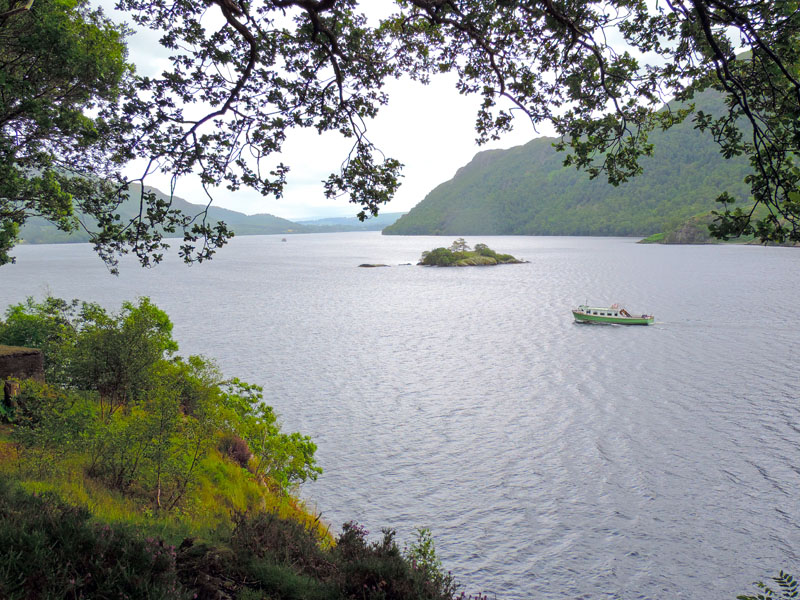 a boast sailing on a lake - one of the attractions of the Lake District