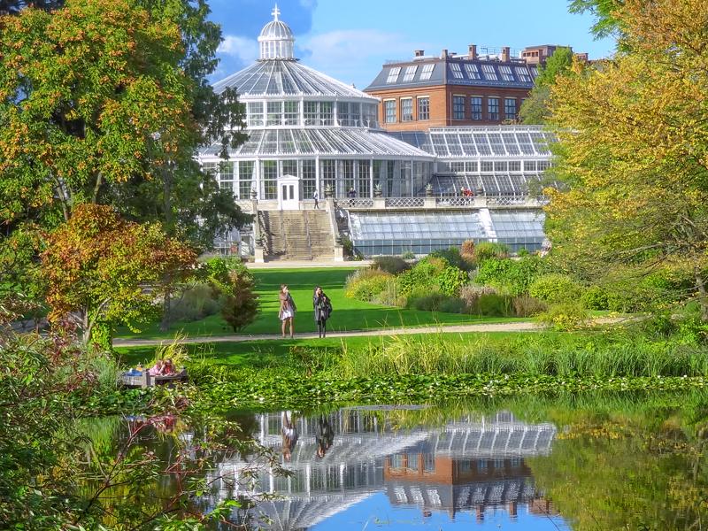 people walking through the Botanical Gardens