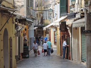 a street in Old Town - one of the things to do in Corfu