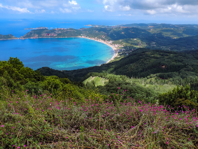 the coast of Corfu during the best time to visit Corfu