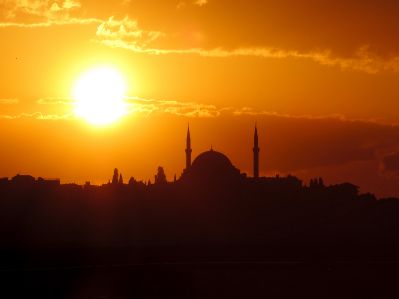 Viewing the city at sunset, one of the things to do in Istanbul