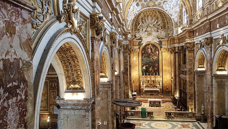 an ornate baroque church