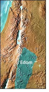 Ancient Map of Edom