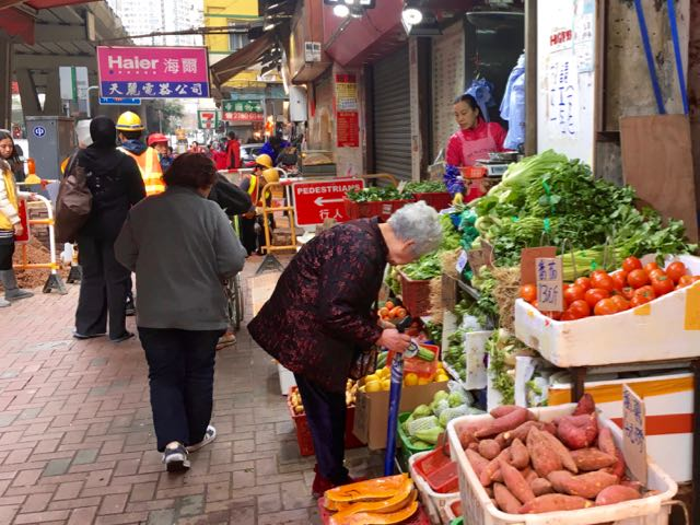 Kowloon Day 1 | Produce stand at street market | Never to old to travel | Gary House