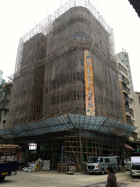 Enclosed in Bamboo Scaffolding | Never to old to travel | Gary House