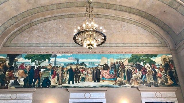 Sacramento train staion mural | NevertoOldtoTravel.com | Gary House