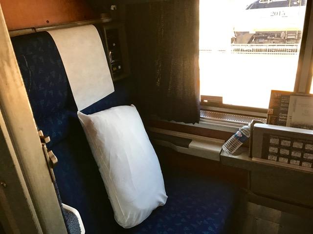 Superliner Roomette left | NevertoOldtoTravel.com | Gary House
