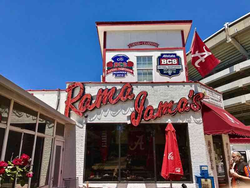 Entrance to Rama Jama's restaurant - Never Too Old To Travel