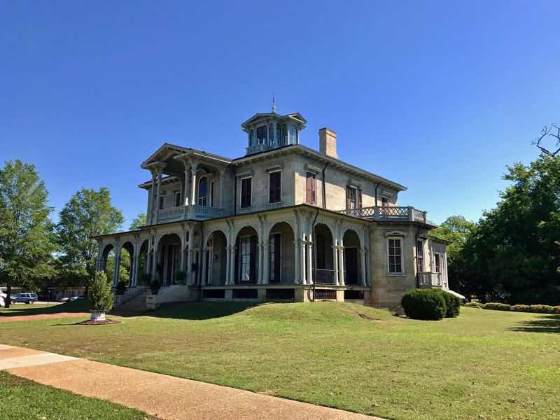 Jemison Van De Graaff Mansion Side View | nevertooldtotravel.com | Gary House