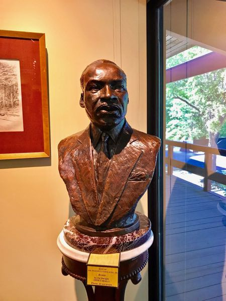Tuscaloosa Museum of Art Dr Martin Luther King Jr. Bronze Bust | nevertooldtotravel.com | Gary House
