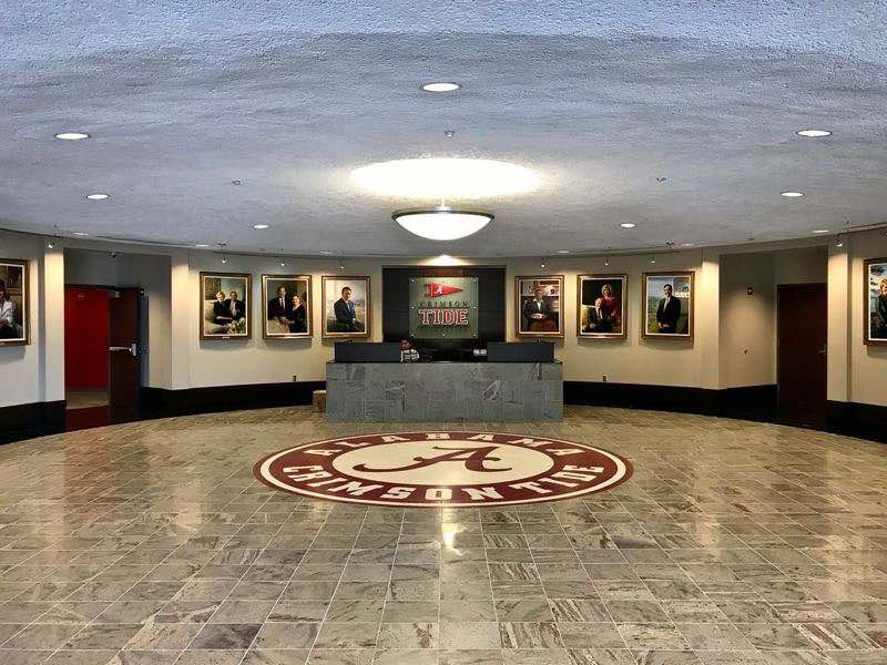 University of Alabama Crimson Tide Entrance Hall | nevertooldtotravel.com | Gary House