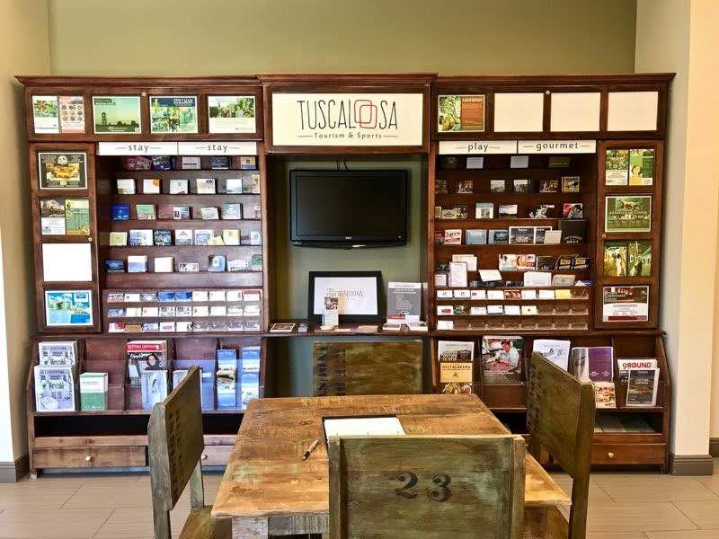 Visitor Center Tuscaloosa Brochure Wall | nevertooldtotravel.com | Gary House