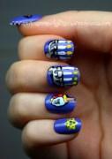 hanukkah nail art nevertoomuchglitter
