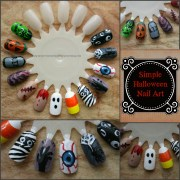 simple and fun halloween nail art
