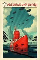 U-boat by Waldemar Kazak