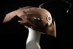 Deep Fish Steampunk Mask Helmet Nautilus