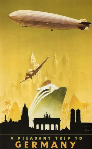 German zeppelin poster