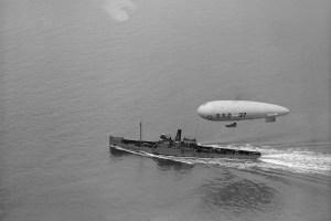 British navy airship