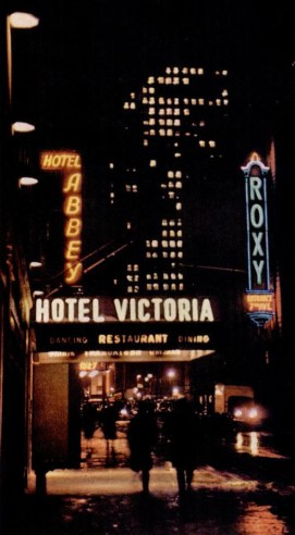 Hotel Victoria New York at night 1946