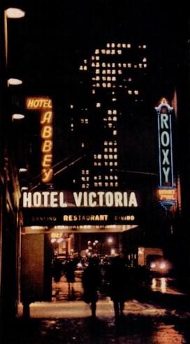 Hotel Victoria New York at night 1946