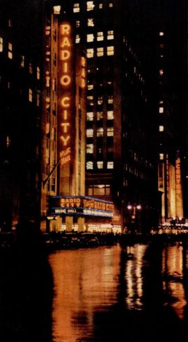 Radio City New York at night 1946