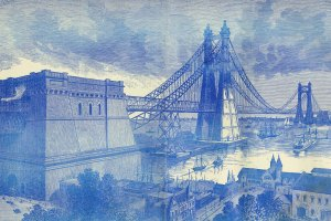 New York North River Bridge