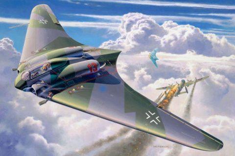 Revell Horten Ho IX German flying wing artwork