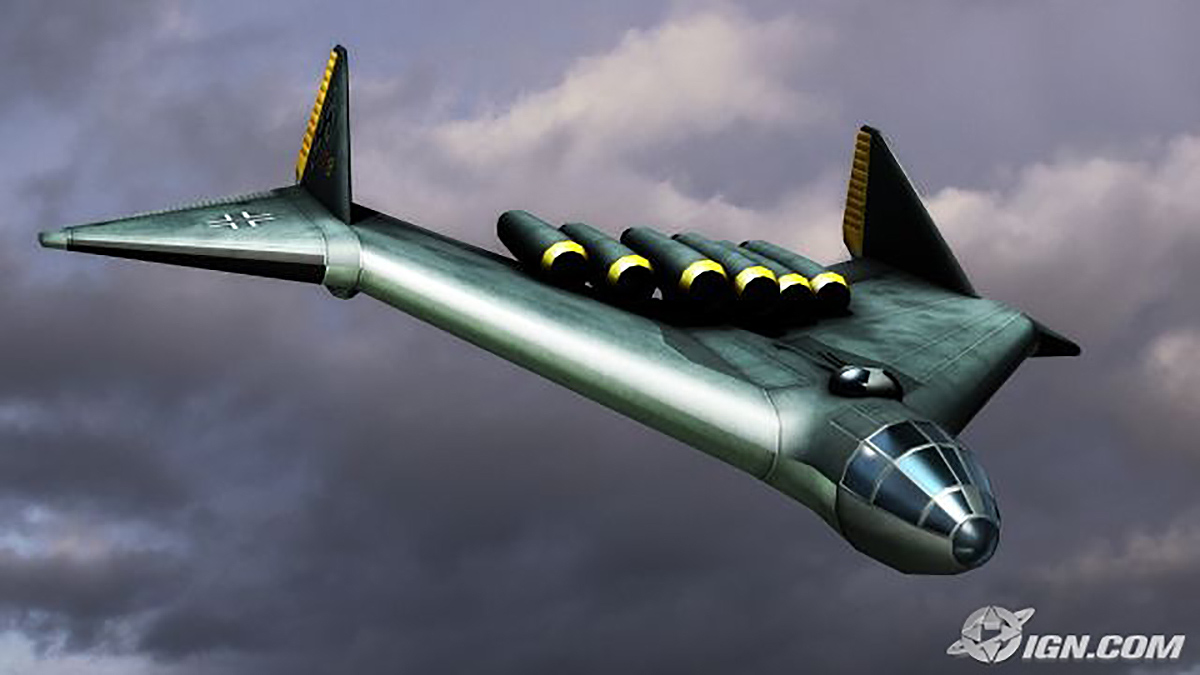 Turning Point: Fall of Liberty German flying wing