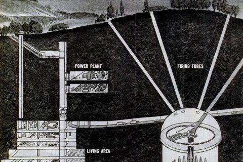 American underground military base illustration