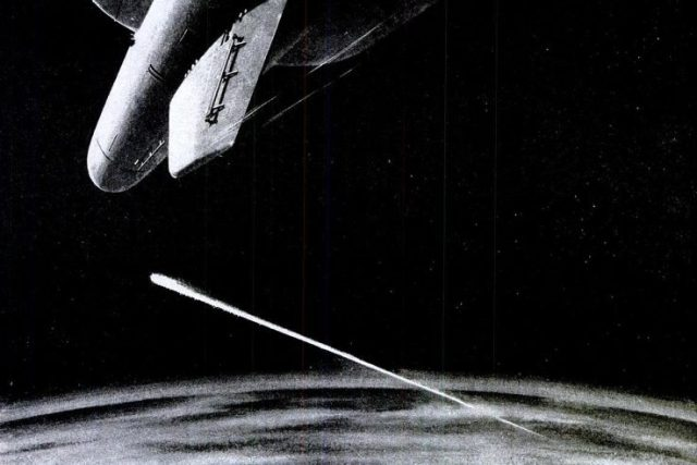Nuclear missile intercept illustration