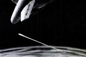 Nuclear missile intercept illustration