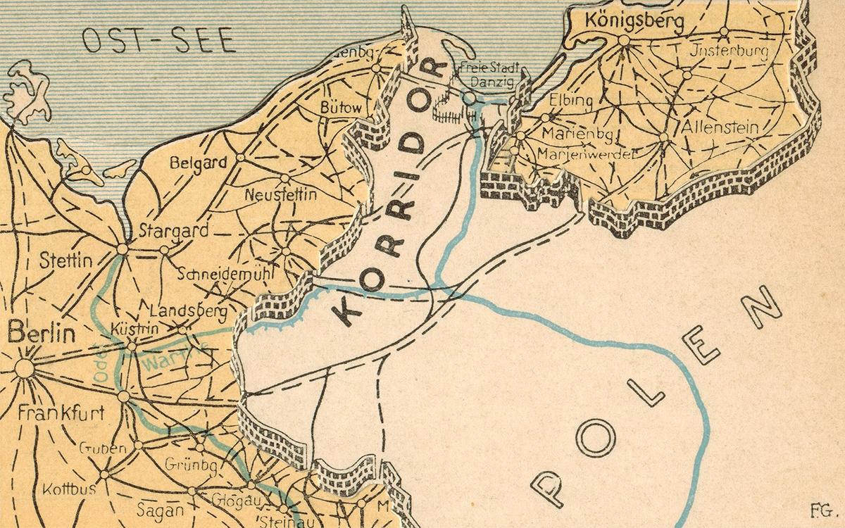1930s Polish Corridor map