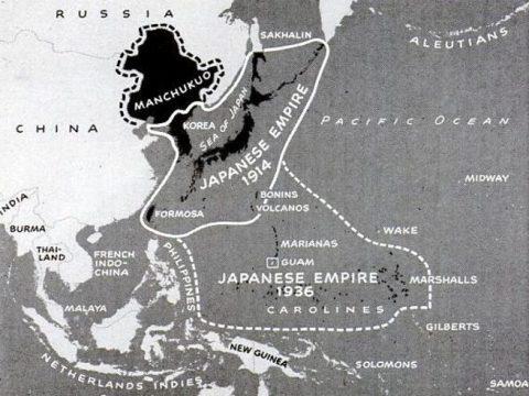 1936 Japanese Empire map