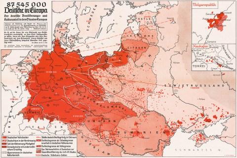1938 Germans Europe map
