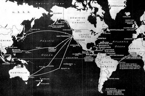 1940 world map